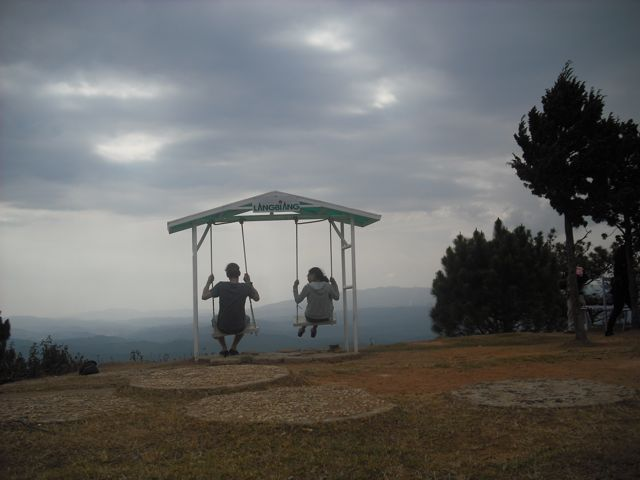 Jon and Bao overlooking the hills of Da Lat, Vietnam