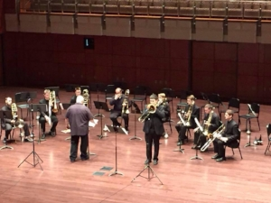 Brad performing David and Goliath by Mike Forbes with the Penn State Trombone Choir at Messiah College in Spring 2015.