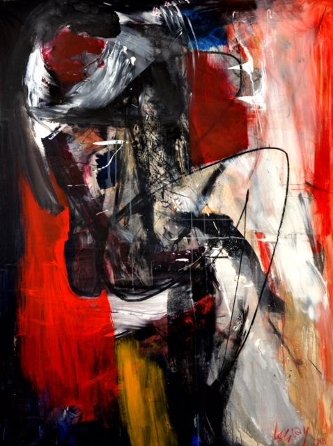 Alberto Lescay Merencio, De La serie Eros, Técnica  Mixta-Lienzo, 183,5x134,5 cm.JPG