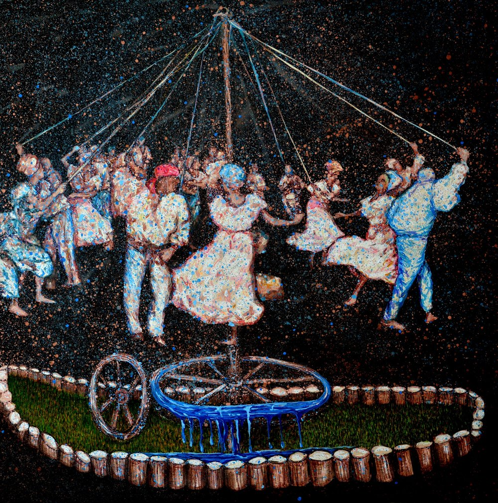 Carlor Rene Aguilera , El Baile, 2018, Técnica Acrilico-Lienzo, 150x150cm.JPG