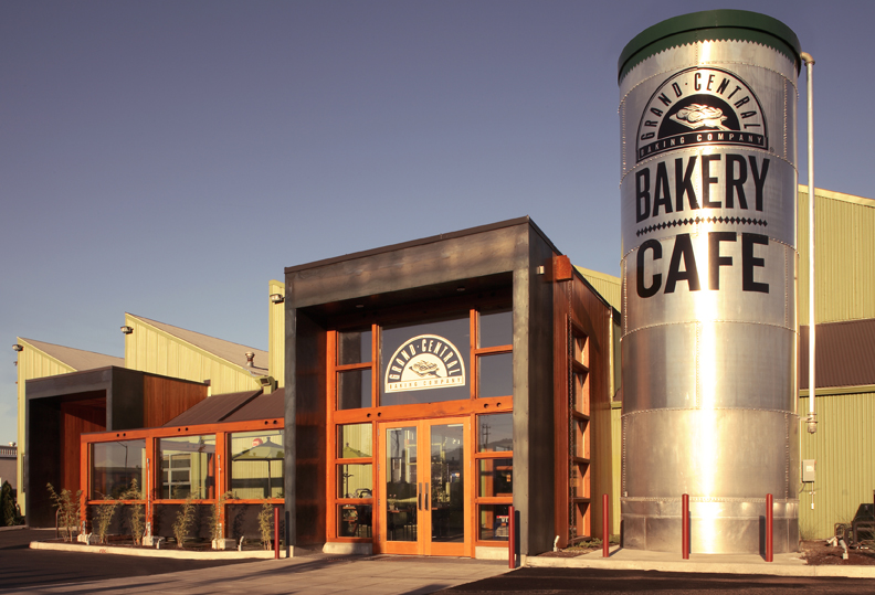 "Coined the ""Sawtooth"" for the original building's signature shape this bakery and cafe functions as a commercial baking facility and corporate headquarters for a baker in Portland Oregon."