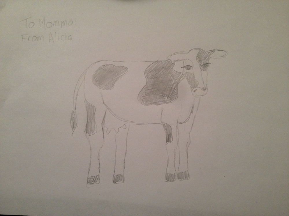 Cow Original Drawing