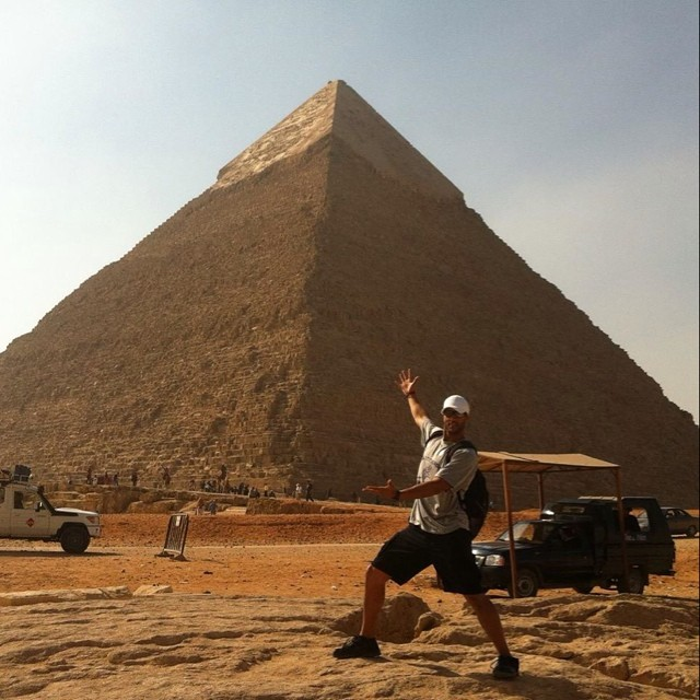 ted in giza egypt cairo great pyramid jon and ted's excellent gamecast.jpg