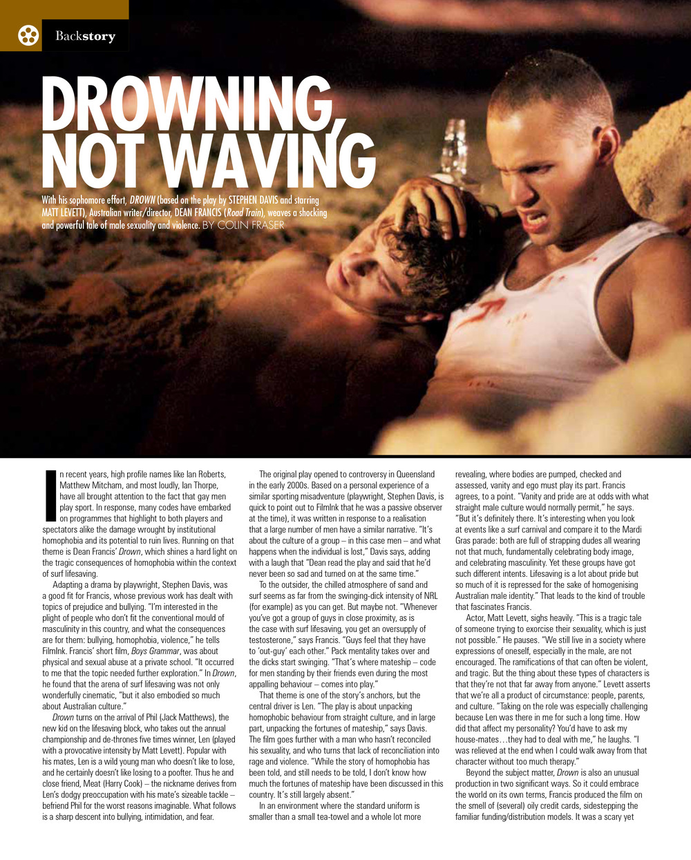 Drown in FilmInk May June issue