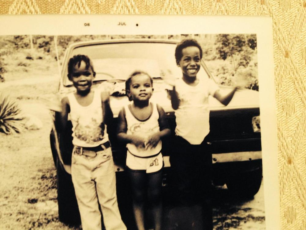 From left to right...me, my cousin & my brother. Circa 1980's.