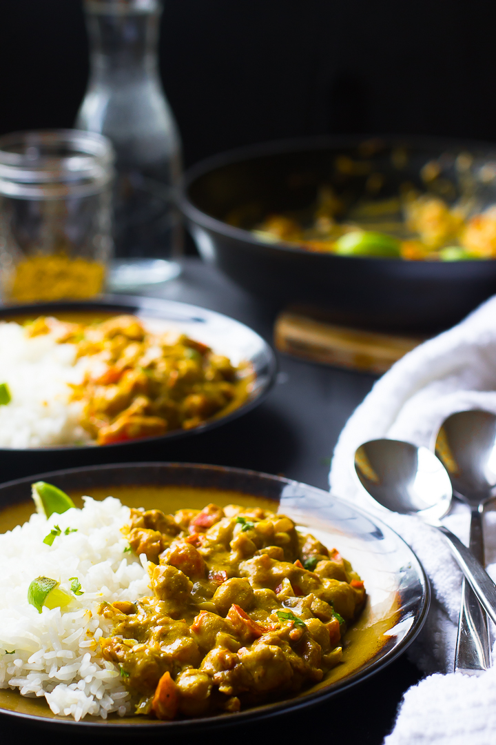 Coconut Curry Chickpeas     Image:  Jessica in the Kitchen