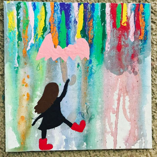 My kiddo's latest creation. She's so proud of her #artwork🎨and I'm proud of her #creativity #artisfun #nuturecreativityinchildren #proudmomma #creativekids #southfloridaliving #loveher #acrylicpainting #artstudent #creativekids #lblogger #lbloggers #southfloridablogger #art #nutureyoursoul #floridavegan #southfloridavegan #veganmom