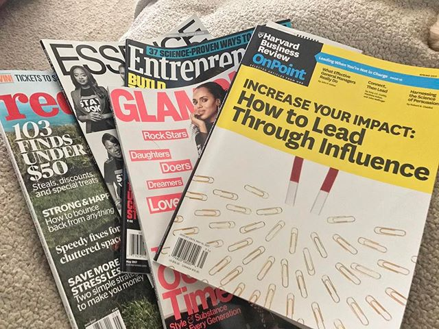 Spent my #Sunday catching up with these magazines...😊#inspirationiseverywhere Hope you had a good day too. . . . . . #magazinejunkie #harvardbusinessreview #sundayreading #glamourmagazine #readingtime #lblogger #lbloggers #entrepreneurmagazine #blackgirlmagic #redbookmagazine #essencemagazine #metime #feelinginspired #lifestyleblogger #bloggerlife #readingaddict  #southfloridablogger #southfloridavegan  #vegangirl #lifestyleblog