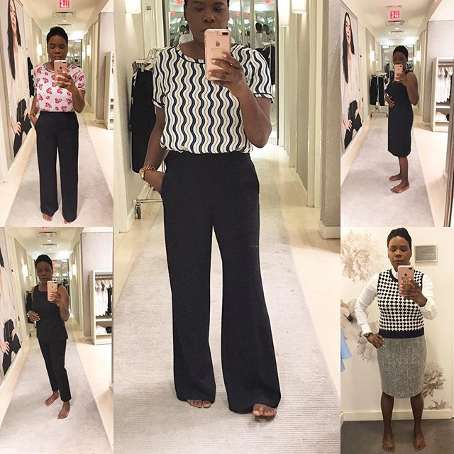I had such an awesome experience shopping for interview outfits @anntaylor in #palmbeachgardens where the most amazing associate helped me put together some amazing looks. I'm so happy with everything I bought, I thanked her profusely for her help and kindness; she's made a nerve racking experience worthwhile. ❤️❤️❤️ . . . . . #poweroutfit #dressingroomselfie #interviewready #interviewprep #jobhunting #lifestylebogger #blackveganlife #anntaylorlover #feelingconfident #feelingmyselfie #blackvegansofig  #goveganstayvegan #southfloridablogger #southfloridavegan #floridavegan #lblogger #lbloggers #anntaylor #misskwame76 #strikeapose #feelingmyself