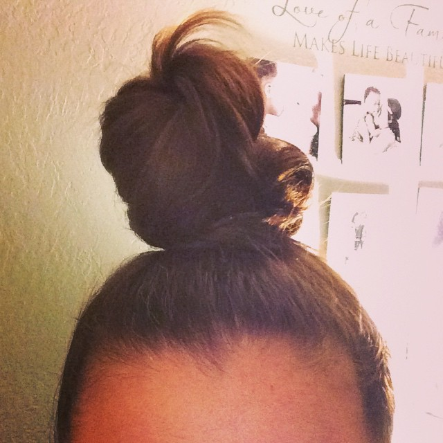 """The High Bun"".  An all-time high, this one wins the prize for height."