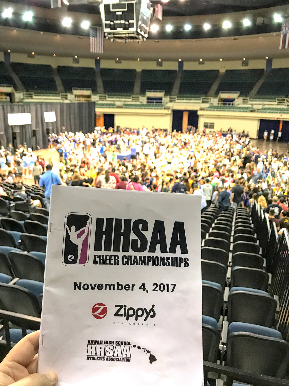 Aiea High School Cheerleaders State Championship 2017-4