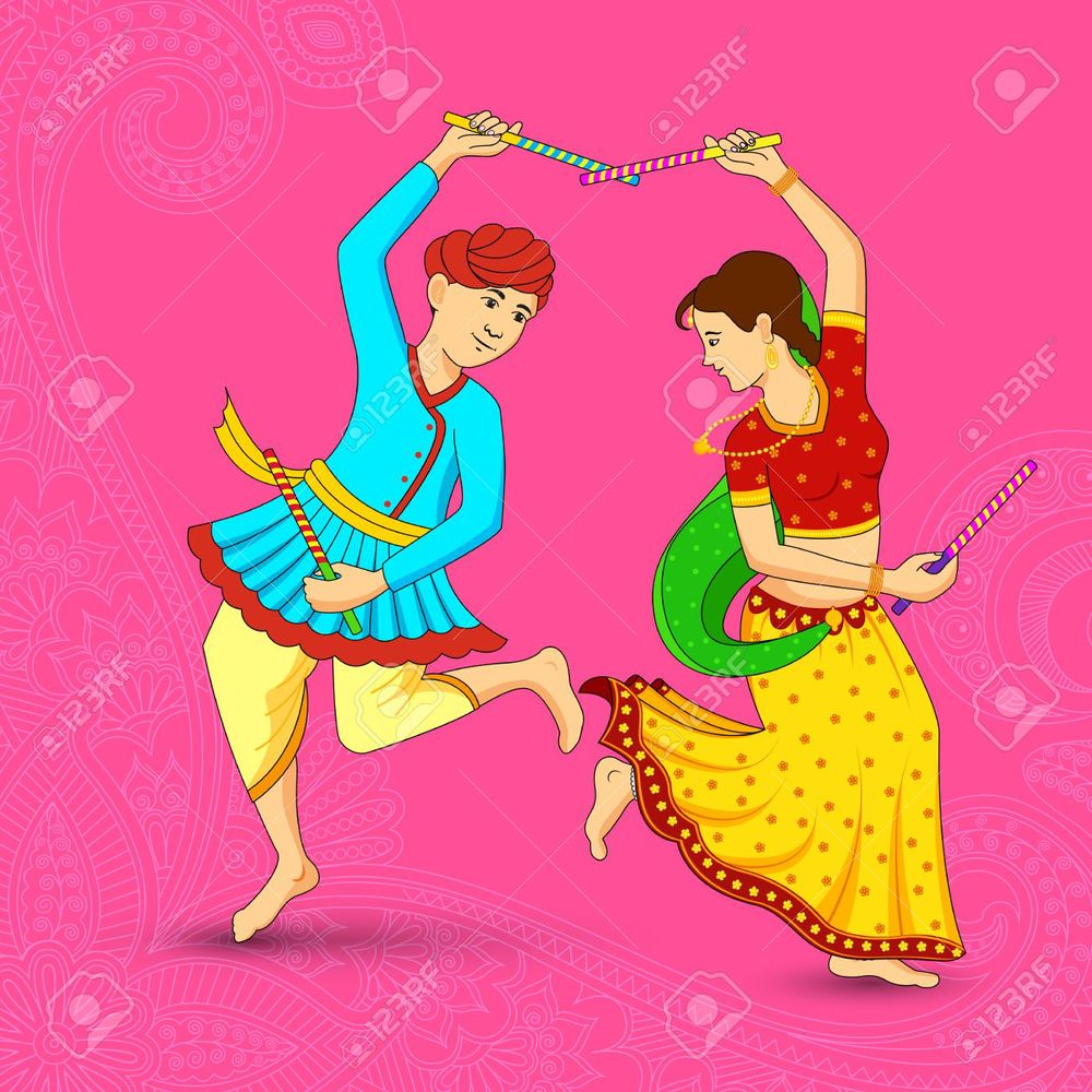 Dancing the Dandiya