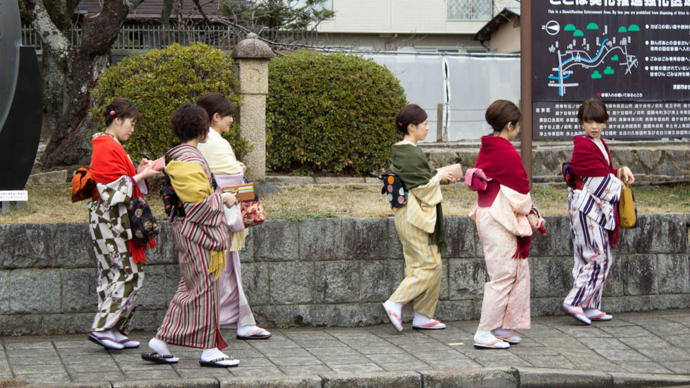 It was Coming of Age Day -- a day of celebration for those turning 20 and entering adulthood. Most women celebrate by wearing furisode, a style of kimono.