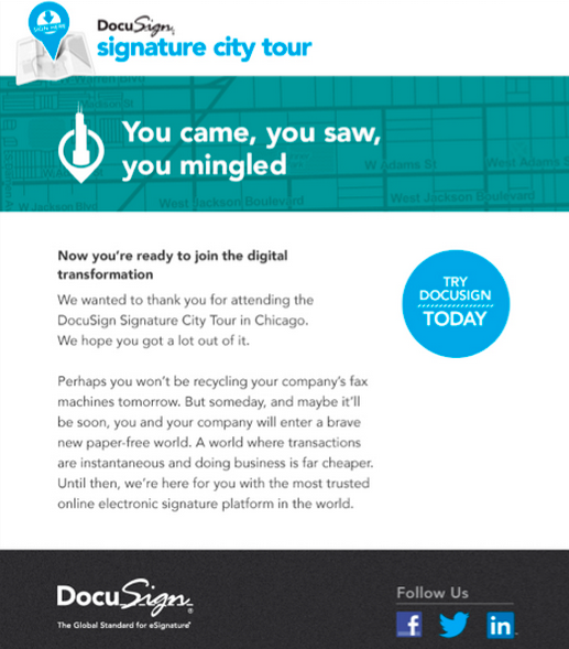 DocuSign: Signature City Tour Design & Copy
