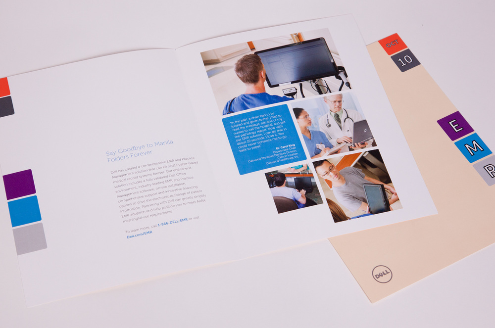 Collateral brochure to resemble the look of a medical file