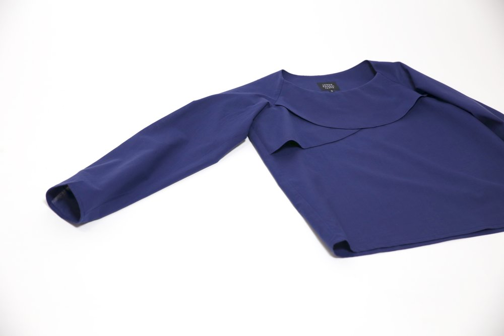 Uni shirt is made of 100% cotton. Long sleeves have elastic cords on wrists.