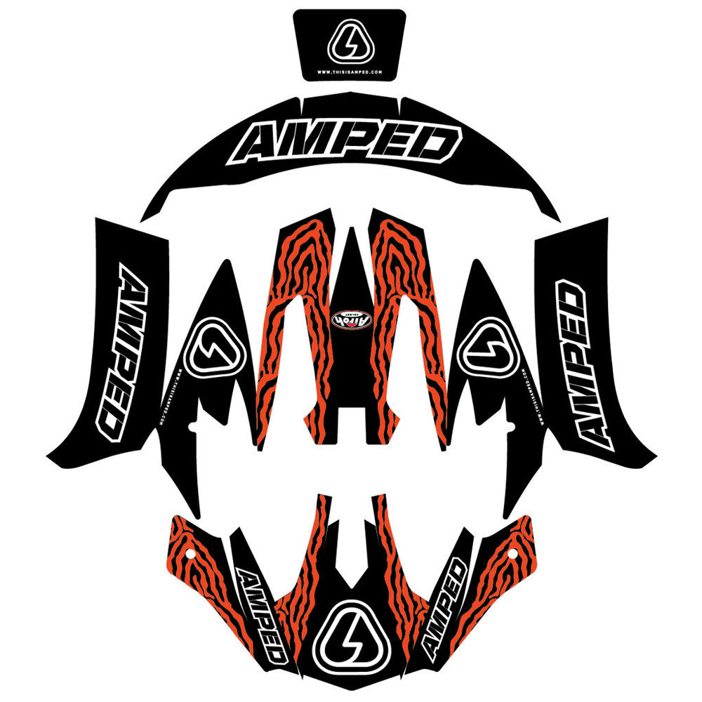 Amped zebra airoh trials helmet stickers
