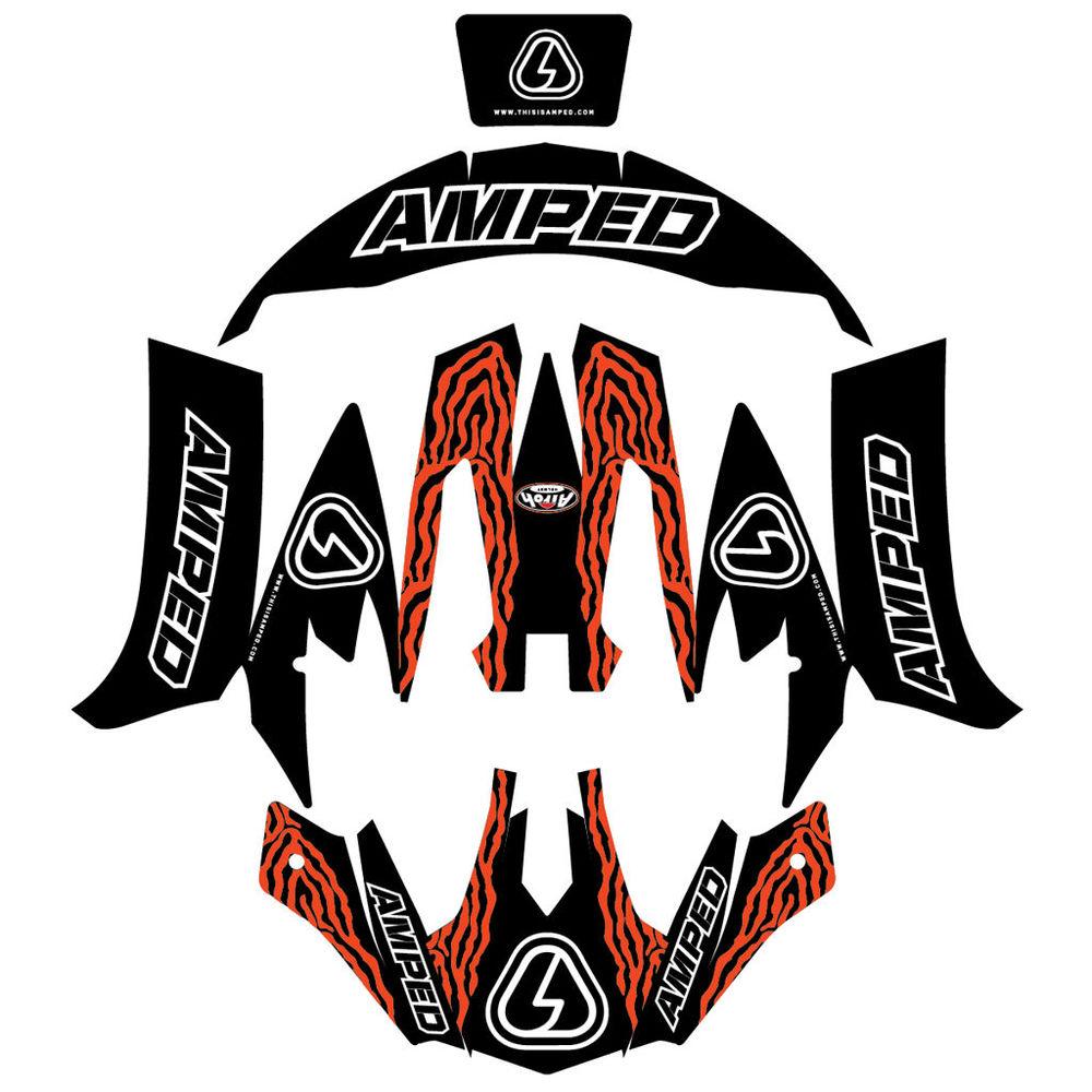 Amped zebra airoh trials helmet stickers