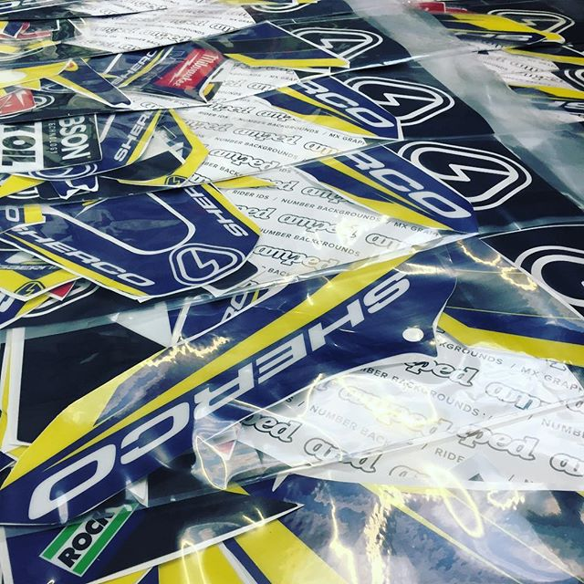 @malcolm_rathmell_sport Sherco team graphics in the final stages of production #sherco #enduro #moto