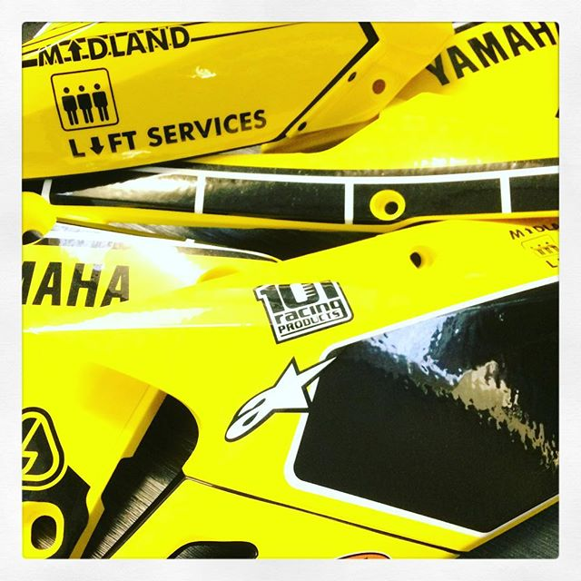 Another one our favourites ready for the courier tomorrow #thisisamped #graphics#plastics#60thanniversary #yamaha