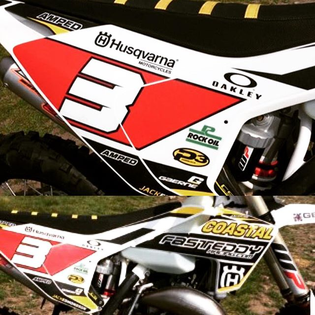 #jackedmonson will be ripping his sweet 125 Husqvarna at the BEC this weekend . Go get em jacko ,ampedfamily #twistit#husqvarna1903 #graphics #thisisamped
