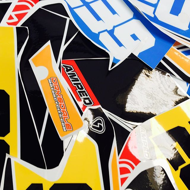 Nice selection of backgrounds hitting the post today#thisisamped #backgrounds#graphics#drysdalemotorcycles
