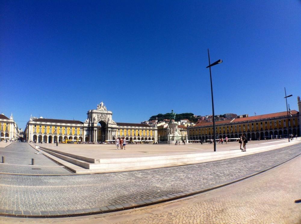 Praça do Comércio plein Lissabon