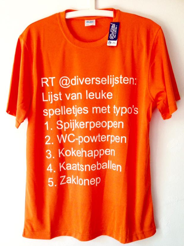 het Diverse Lijsten Koningsdag t-shirt (2015)