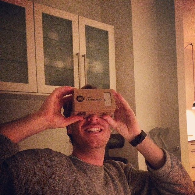 Testing #googlecardboard and we love it! :) #virtualrealityvideo #360degreevideo