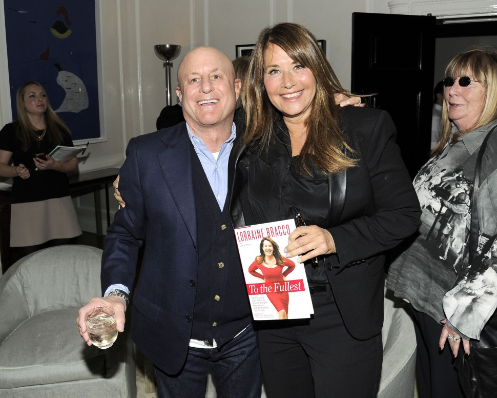 Old pals: Ronald Perelman and Lorraine Bracco celebrate her new book, 'To The Fullest,' as Penny Marshall looks on approvingly  (Nicholas Hunt/PatrickMcMullan.com).         Read more  HERE  & follow us:  @newyorkobserver on Twitter  |      newyorkobserver       on Facebook