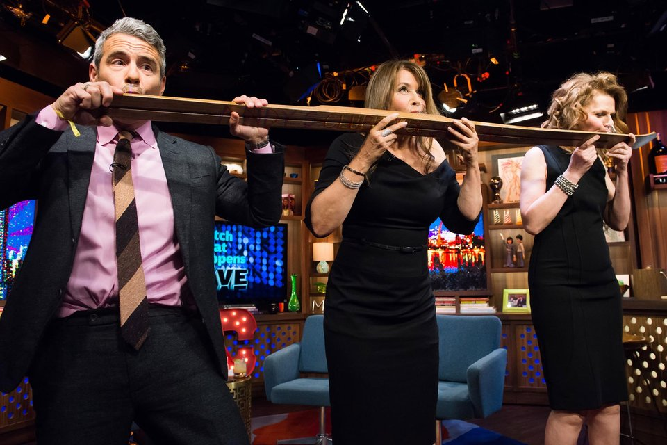 Shotski time again!  Photo credit: Bravo TV/WWHL