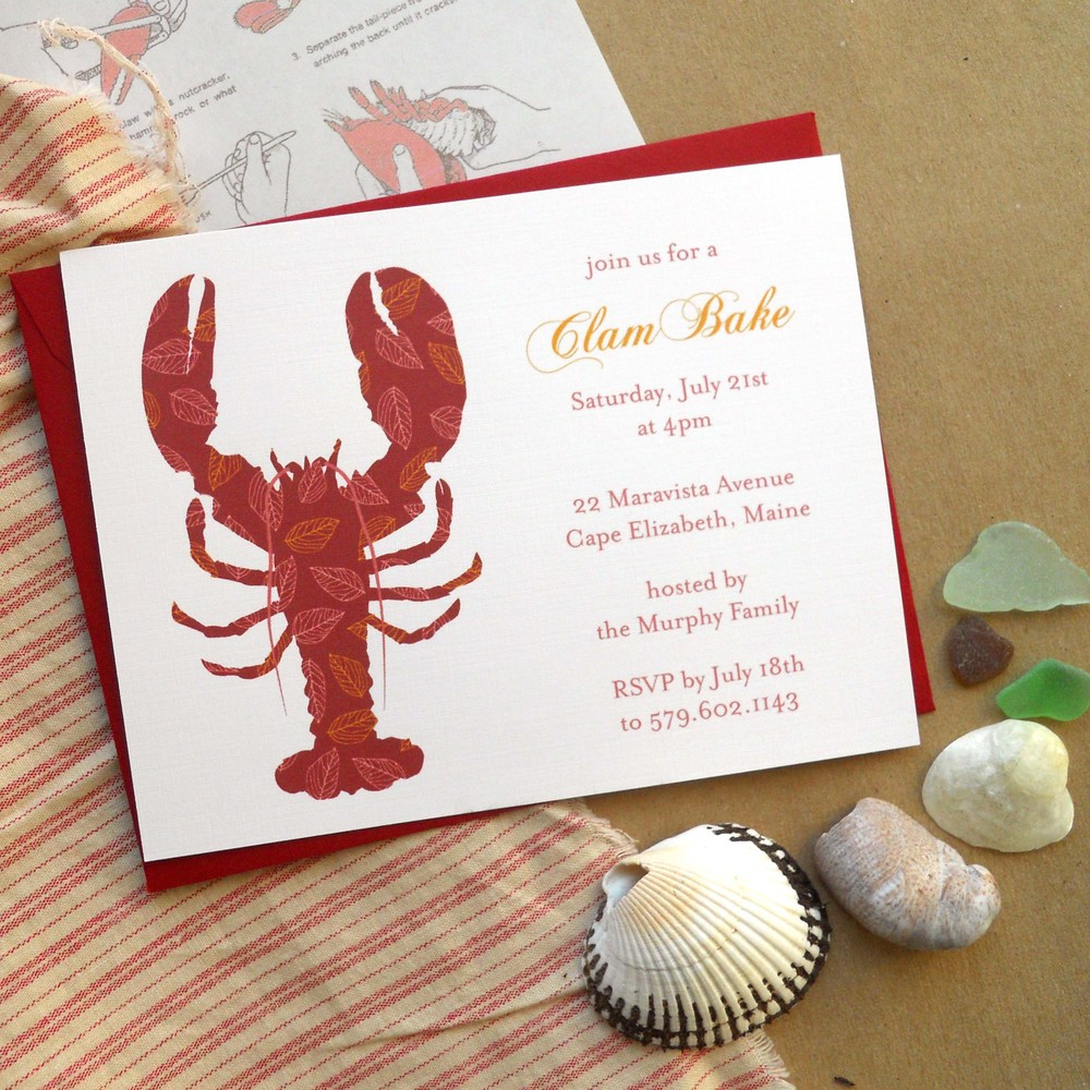 Lobster Boil Invites