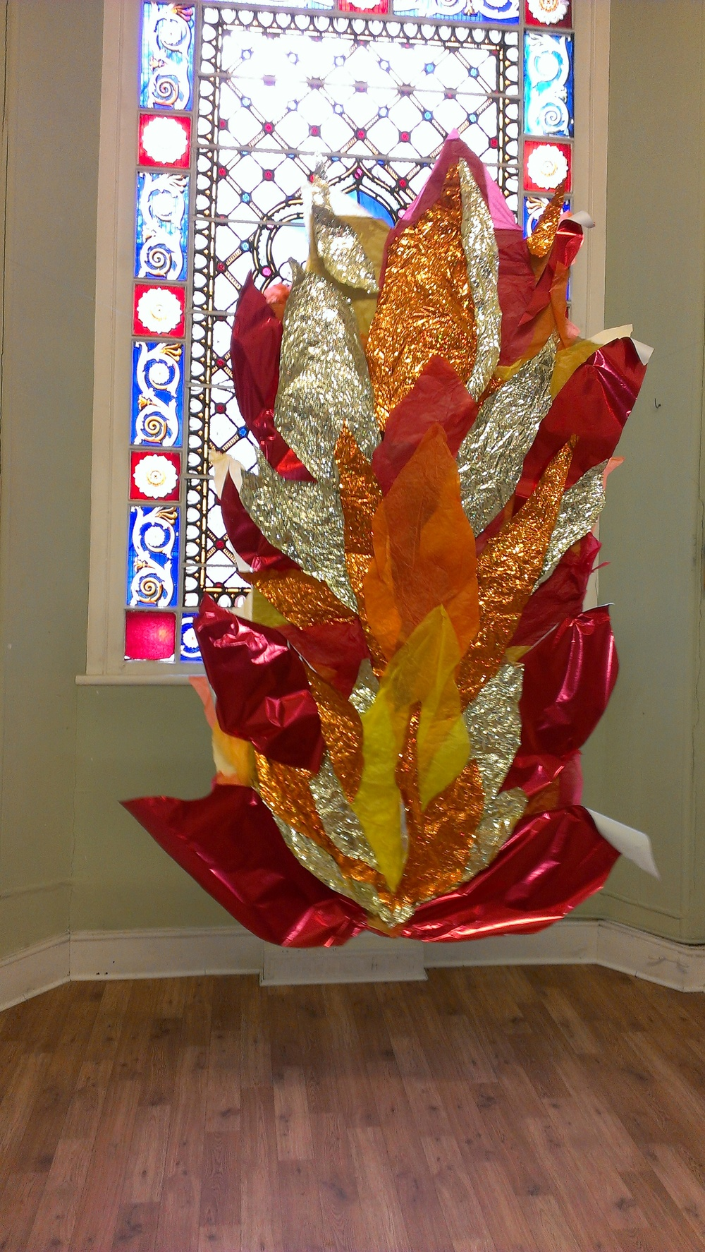 A Pentecost display
