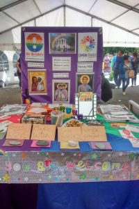 The Open Table community stall at Liverpool Pride, July 2016
