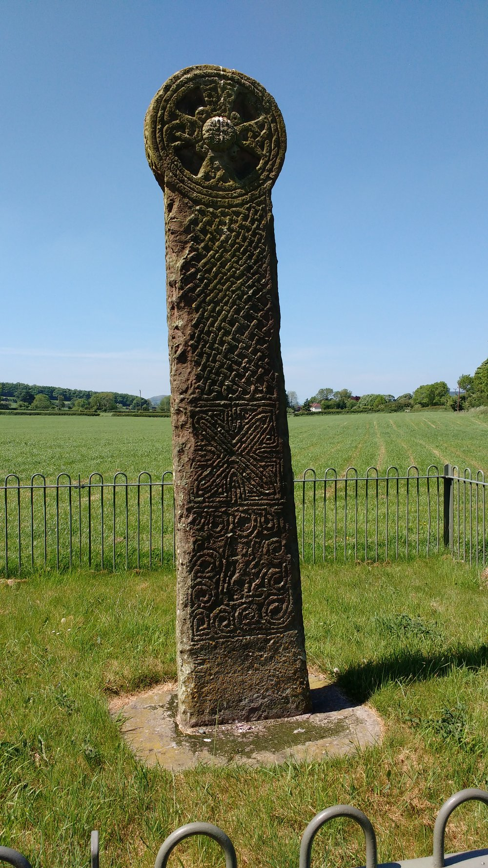 a 12ft high Celtic cross at Maen Achwyfan
