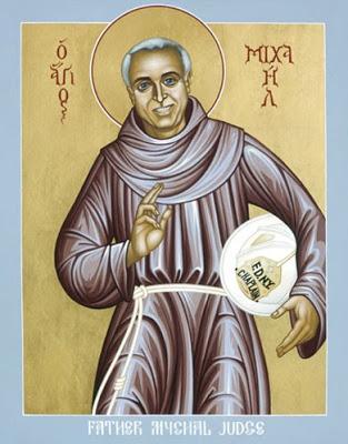 Icon of Fr Mychal Judge by Bro Robert Lentz OFM