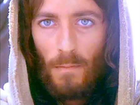 Robert Powell as Jesus in the 1977 TV mini-series  Jesus of Nazareth