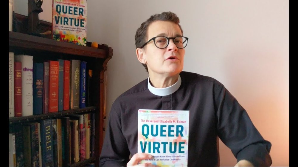 Revd Elizabeth Edman, author of Queer Virtue