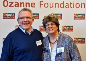 Open Table network co-ordinator Kieran Bohan with Ozanne Foundation director Jayne Ozanne