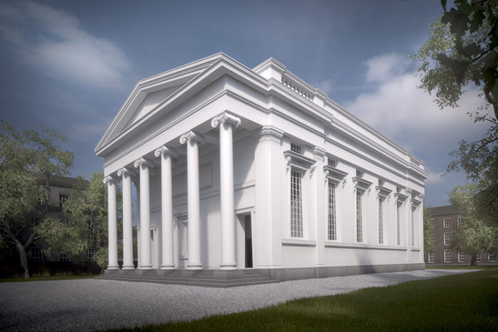 Architect's impression of the exterior of the refurbished St Bride's church