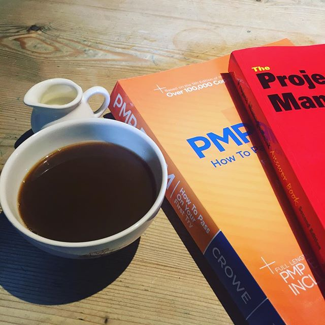 It's important to be properly caffeinated for #PMPprep homework. #pmp #pmpexam