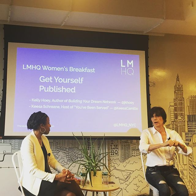 With the ladies of @fancynyc at @lmhq_nyc listening to @jkellyhoey talk about networking and how to get published.