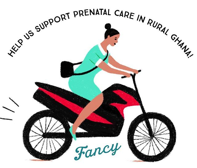 In support of #internationalwomensday help me and @fancynyc buy a motorcycle for a midwife in Ghana so she can bring pre- and post-natal care to her patients. gofundme.com/motorcycle-midwife
