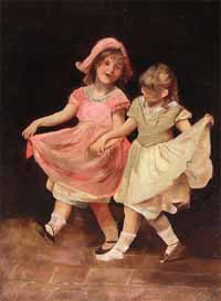 "Anon. ""Two Dancing Children"""