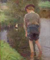 "Souza Pinta  ""Boy and a Boat"""