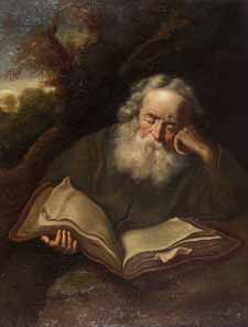 """The Hermit"" copy after Salomon Konink, Dutch"