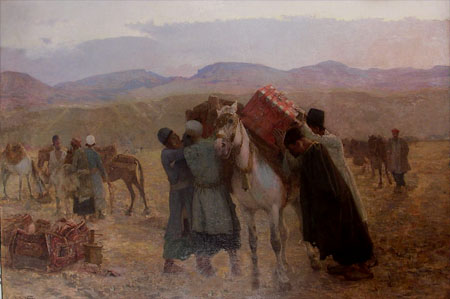 "Edwin Lord Weeks ""Loading the Caravan"""