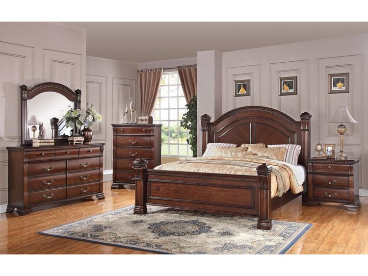 Just Arrived! Queen or King Poster Bedroom Set — NH Furniture Direct