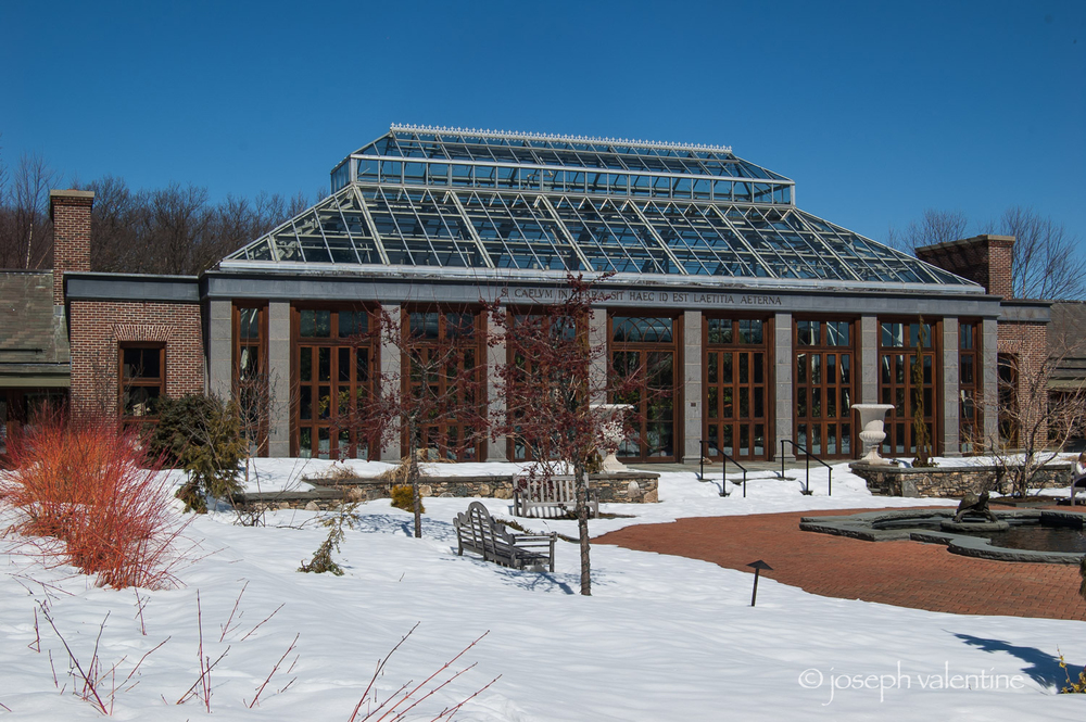 The Marjorie Doyle Rockwell Orangerie at Tower Hill Botanic Garden