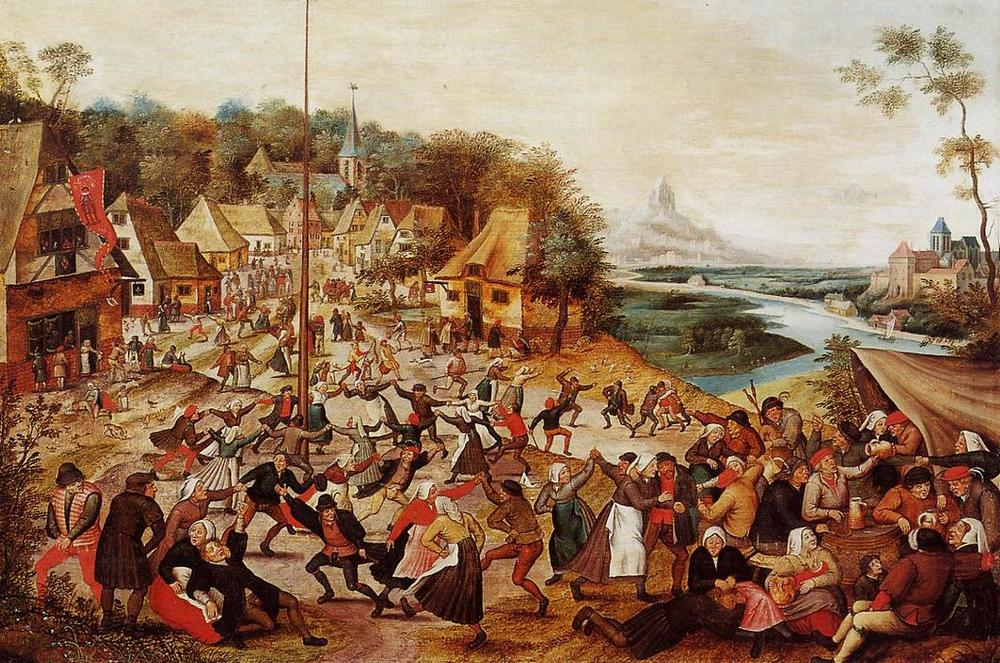 Dance Around The Maypole, Pieter Bruegel The Younger (1564-1637), ca. 1625-1630, Oil on Panel, Utah Museum of Fine Arts.